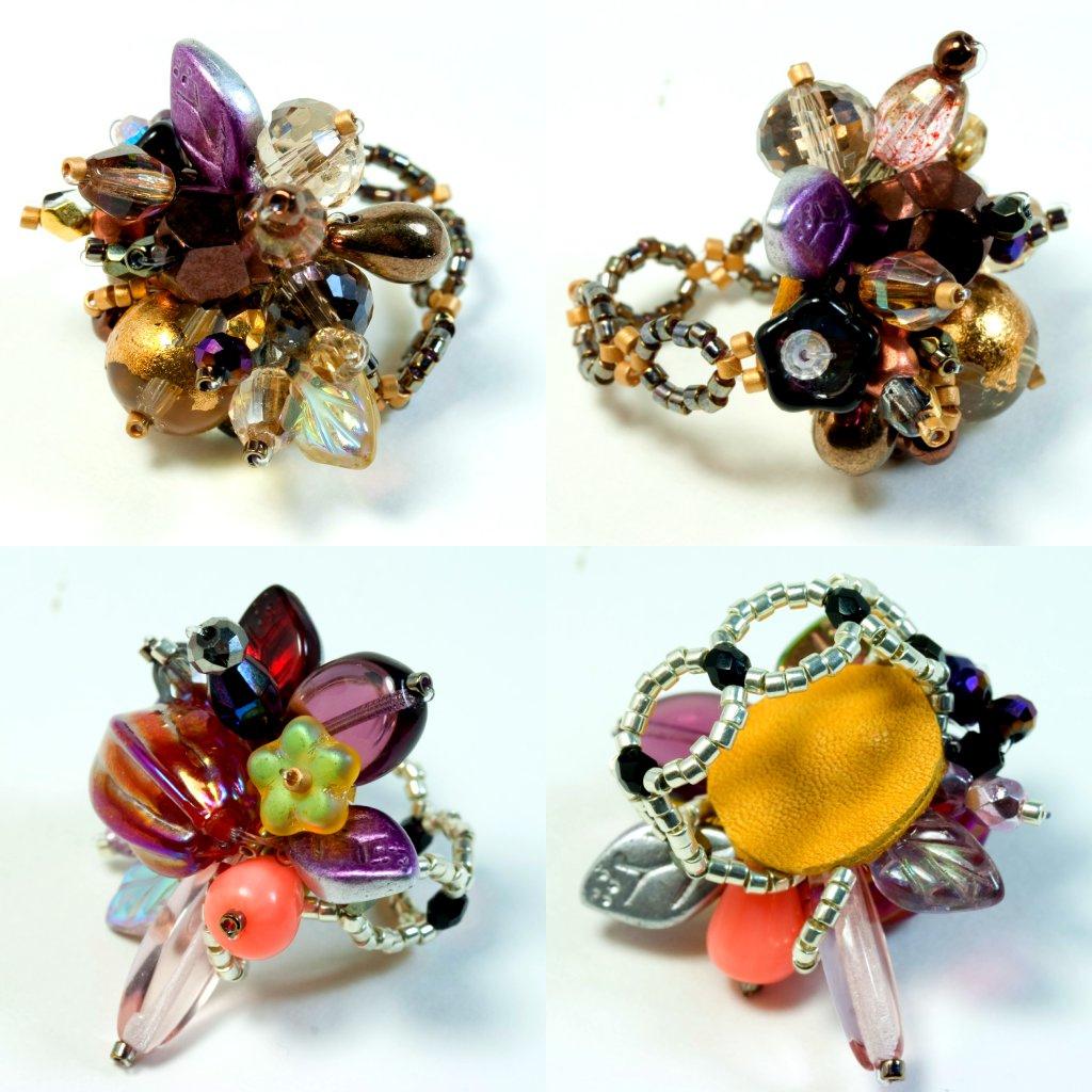 Объемное кольцо из бисера своими руками