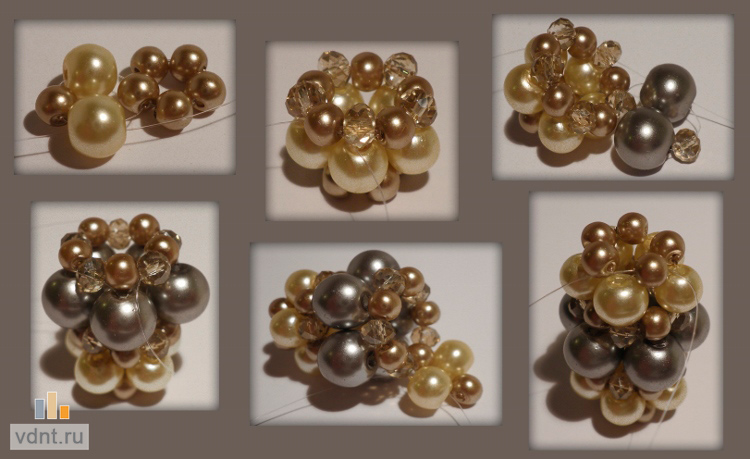 Жемчужные бусы из плетеных из бисера бусин (мастер-класс)