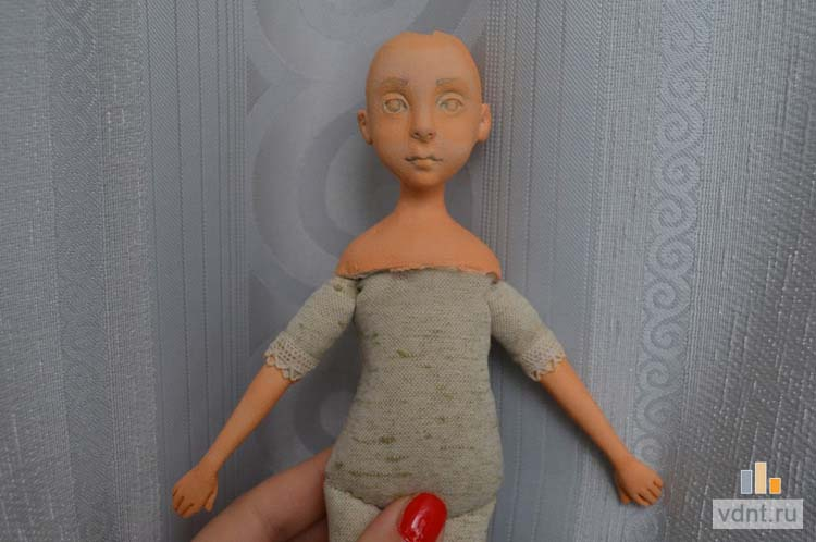 Как сделать куклу с головой из пластики