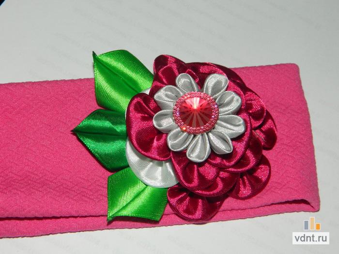 Ободок с цветами из фоамирана - мастер-класс, ВДНТ