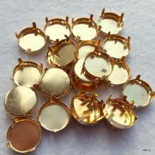 Цапы для риволи 16 мм под золото (оправа, сеттинги)
