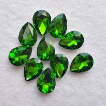 Кристаллы - капли стеклянные 18х13 мм (травяные)