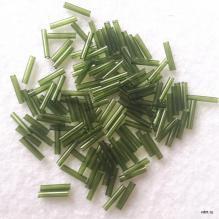 Бисер стеклярус длинный toho 9 мм травяной