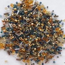 Японский бисер toho mix 3220 сине-бронзовый