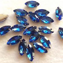 Стразы наветт в цапах 14х7 синие (1)