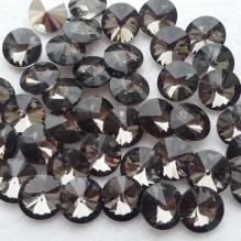 Стразы риволи 16 мм цвет черный бриллиант (6)