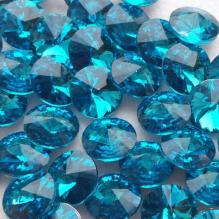 Стразы риволи 16 мм голубые (3)