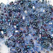 Японский бисер toho mix 3204 фиолетово-синий