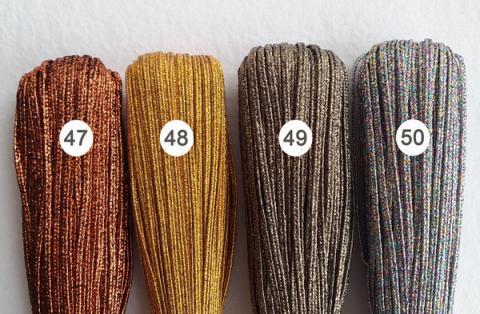 Сутажный шнур металлизированный