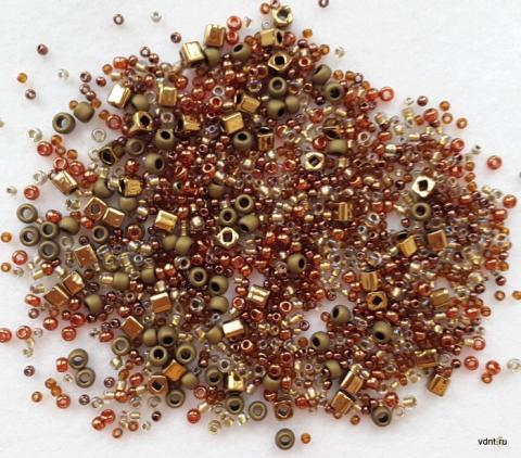 Японский бисер toho mix 3205 бронзово-золотистый
