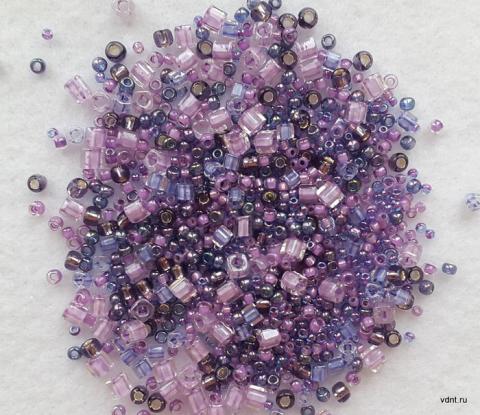 Японский бисер toho mix 3207 фиолетовый