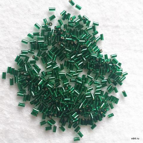 Бисер стеклярус короткий toho 3 мм изумрудный