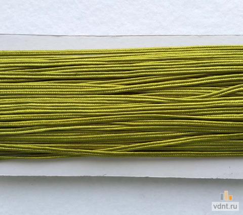 Сутаж атласный оливковый (38)