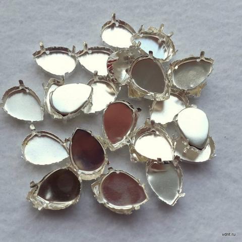Цапы для страз-капель под серебро (оправа, сеттинги)