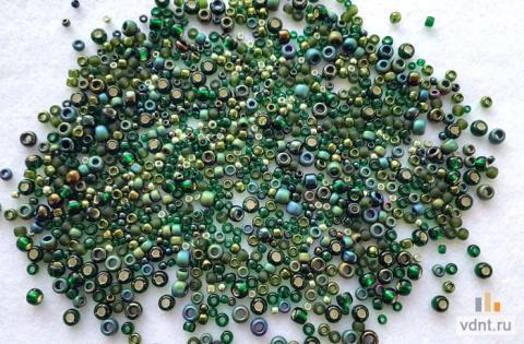 Японский бисер toho mix 3209 темно-зеленый